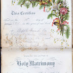 Page 5 of Julia Gleaves and Charles Allen wedding book. This Certifies That on the 15th day of June 1911 in the year of our Lord At Cripple Creek, Va Mr. Charles Baldwin Allen of Petersburg, Va and Miss Julia Gleaves of Cripple Creek, Va were by me United in Holy Matrimony According to the ordinance of God and the Laws of ----