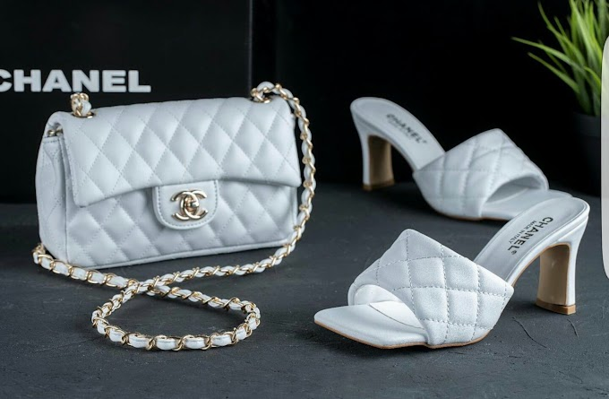 chanel bag and shoe.