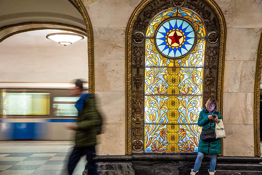 俄羅斯 莫斯科 地鐵站 Moscow metro Novoslobodskaya