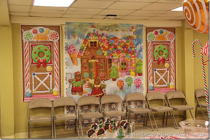 Gingerbread House Wall for Candy Land Party