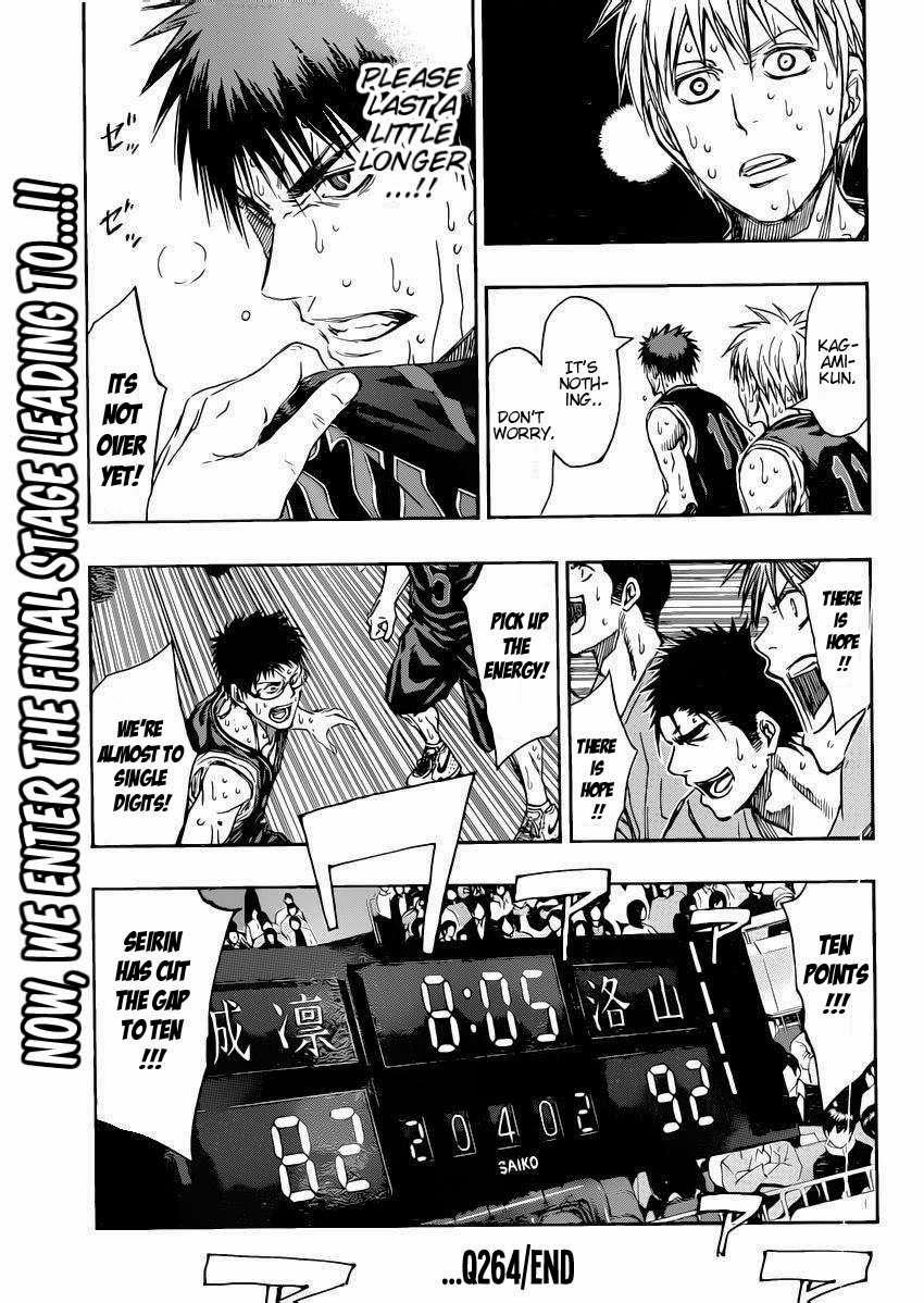 Kuroko no Basket Manga Chapter 264 - Image 19