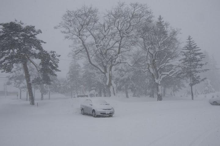 外は猛吹雪