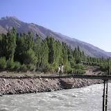 Passerelle sur la rivière Gunt à Sangou-Dara, 31 juillet 2007. Photo : Jean Michel