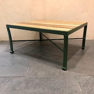 Enameled Metal Low Patio Table