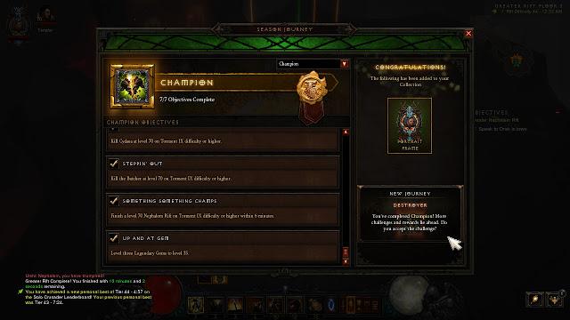 Diablo III: Reaper of Souls - Season 5, Champion