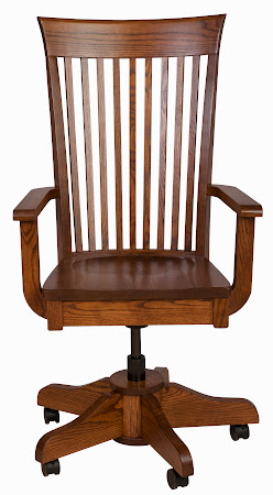 Lancaster Office Chair in Mahogany Oak