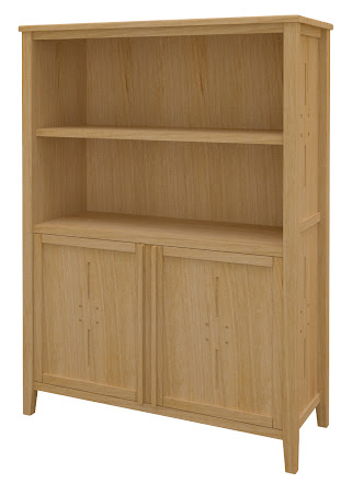 Florence Wooden Door Bookshelf in Ginger Maple