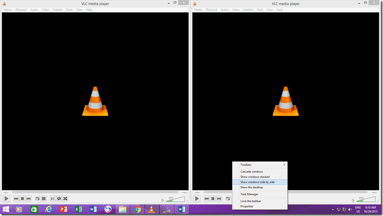 Two VLC Media Player Instances