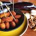 Croquetas de Berenjena, queso de cabra  y nueces