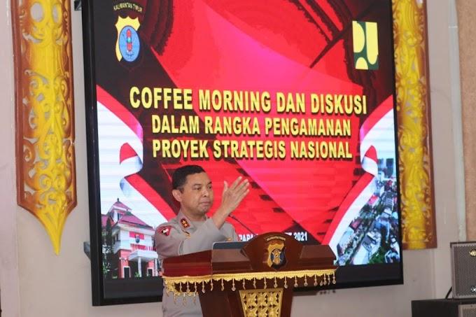 Kapolda Coffee Morning dengan Balai Kementerian PUPR Wilayah Kaltim