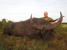 Mr Luke McCormack with a beautiful buffalo bull, 100 SCI