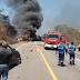 Motorista morre em acidente envolvendo três carretas e carro na BR-116
