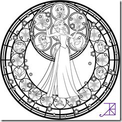 Mandala Frozen | Mandala Disney para colorear