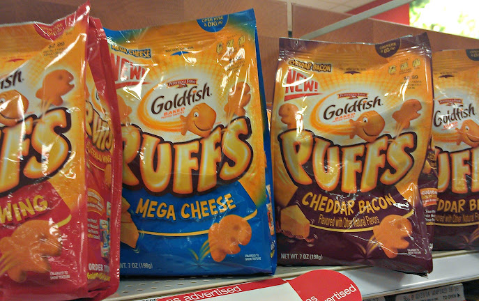 Goldfish Puffs at Target - Great Snack for the Whole Family #makeitgopuff
