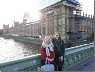 Cheshire Wildlife Trust's Katie Greenwood and Charlotte Harris at Westminster.