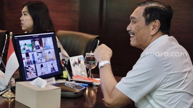 Wawancara Tatap Muka Menko Luhut Binsar Pandjaitan Ditiadakan Sementara