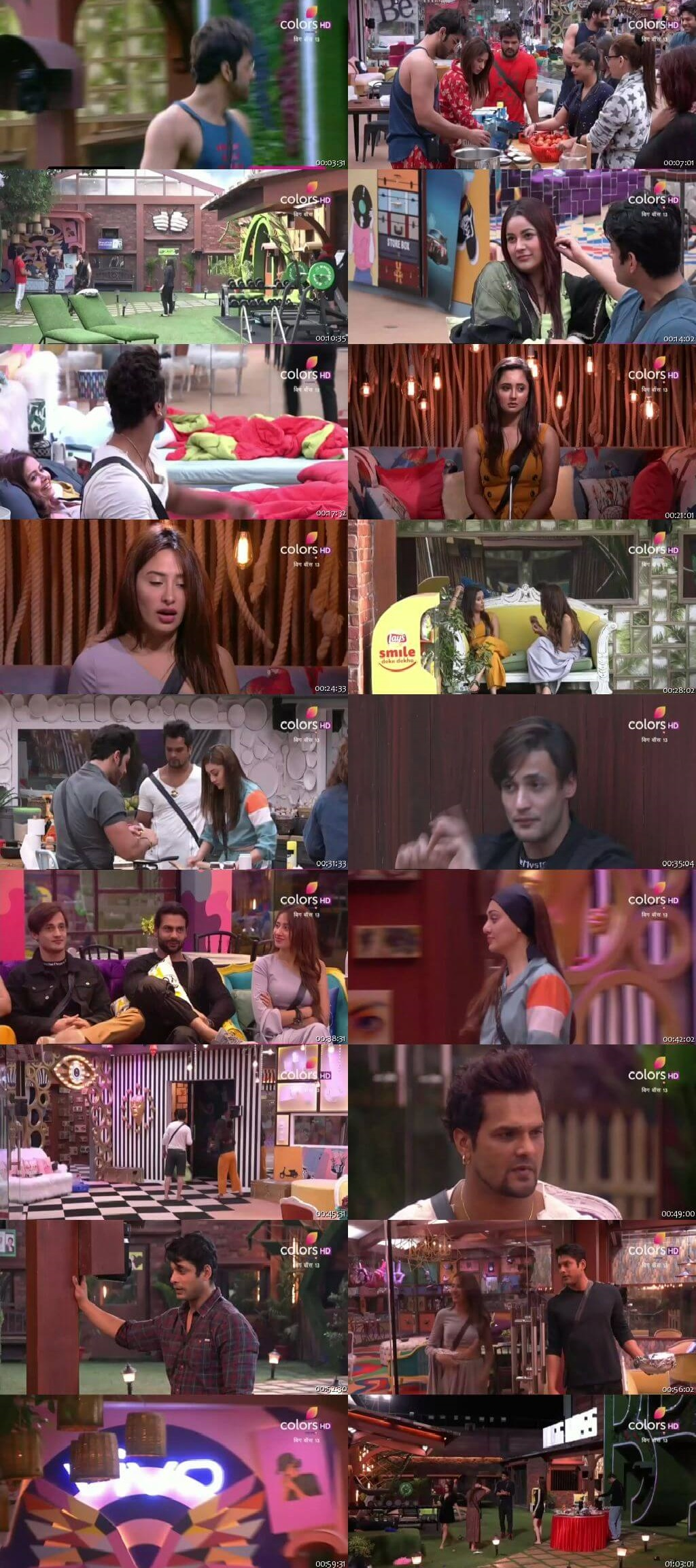Screenshots Of Hindi Show Bigg Boss 13 18th November 2019 Episode 49 300MB 480P HD