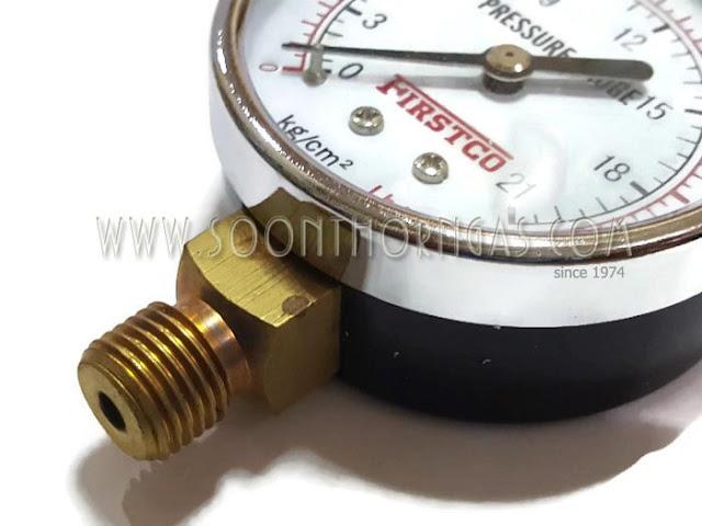 เกจ์วัดแรงดันแก๊ส ( HIGH PRESSURE GAUGE ) FIRSTCO 21 kg./cm2