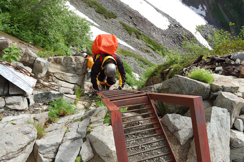 南稜の最後のはしご