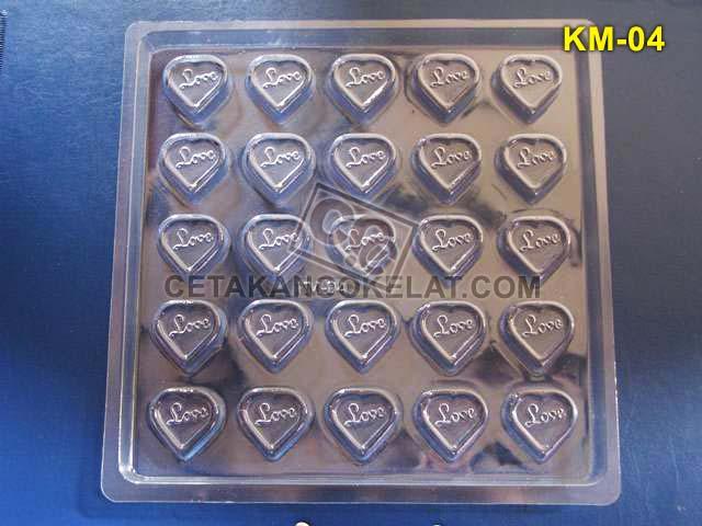 Cetakan Coklat KM004 KM04 KM4 KM cokelat love praline