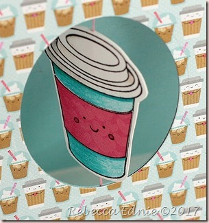 coffee cup spinner card