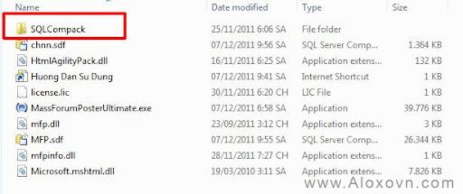 Cài đặt SQL Compact