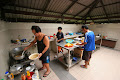 The kitchen staff at work | photo © Matt Kirby