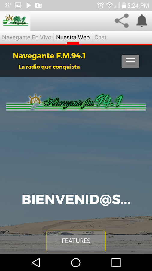 Fm Navegante 94.1 MHz- screenshot