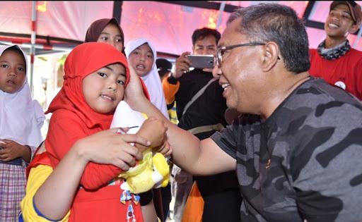 Trauma Healing Korban Longsor Cisolok Sukabumi, Marwan Hamami : Anak Harus Terus Diberi Motivasi