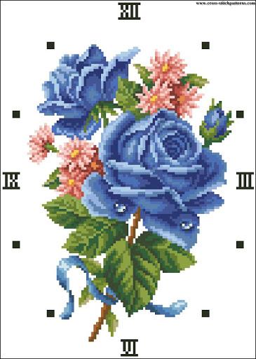 Beauty Rose - Blue clock chart