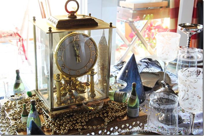 Clock for New Year's Centerpiece