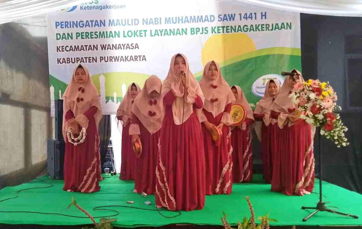 Grup Qosidah Sayidatul Rohmah meriahkan Peringatan Maulid Nabi SAW, Kecamatan Wanayasa