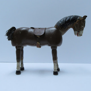 Brown Wooden Antique Horse Toy
