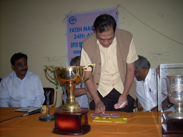 7. The Chief guest Sri K Swaminathan inaugurating the tournament