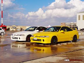 White and Yellow DC2 Integra