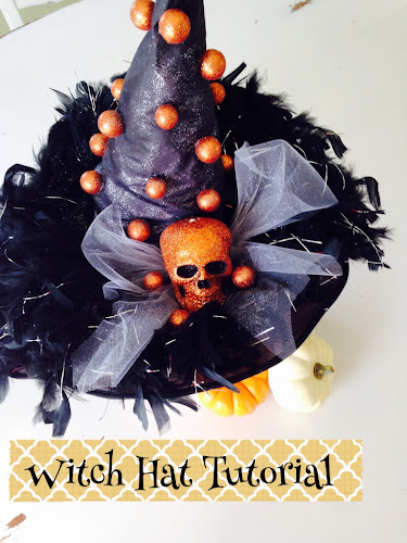 Witch hat makeover tutorial, witch hat diy, witches night out