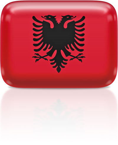 Albanian flag clipart rectangular