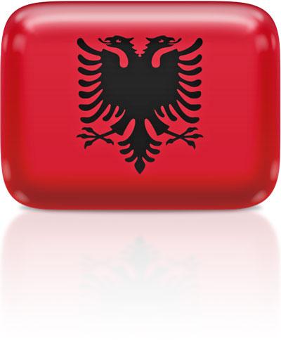 Albanian flag clipart rectangular