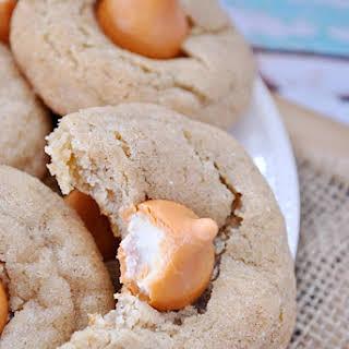Pumpkin Cheesecake Blossom Cookies.
