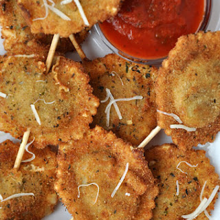 Deep-Fried Ravioli On a Stick