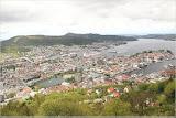 Blick über Bergen vom Fløyen