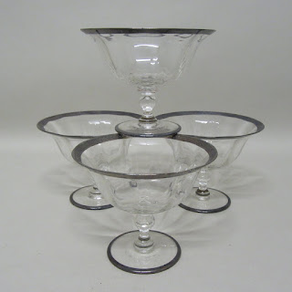 Silver & Glass Ice Cream Dishes