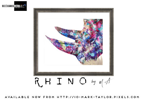 M.As Rhino Art Print