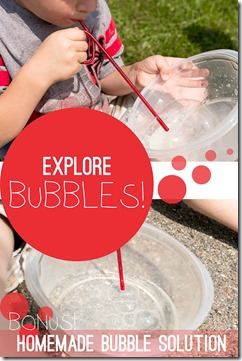 bubble science with homemade bubble solution