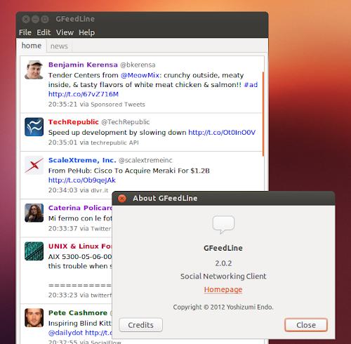 GFeedLine 2.0 su Ubuntu
