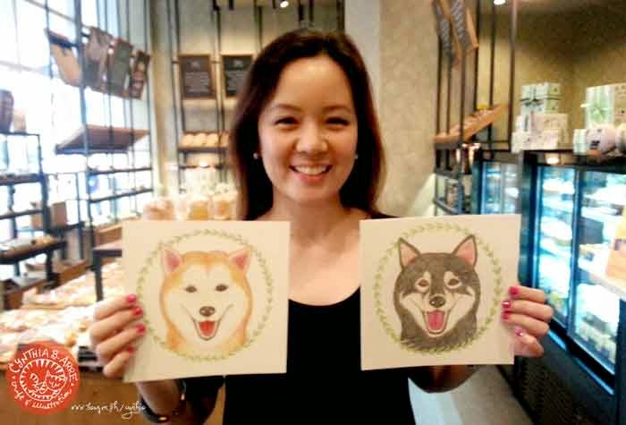 shiba inu custom watercolor portraits by cynthia bauzon arre