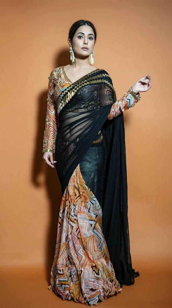 Big Boss 14: Beautiful Hina Khan million dollar Saree Look sets the internet on fire.