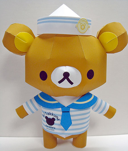Naval Uniform Rilakkuma Papercraft