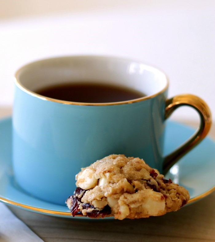 Coffee & White Chocolate Cranberry Cookies