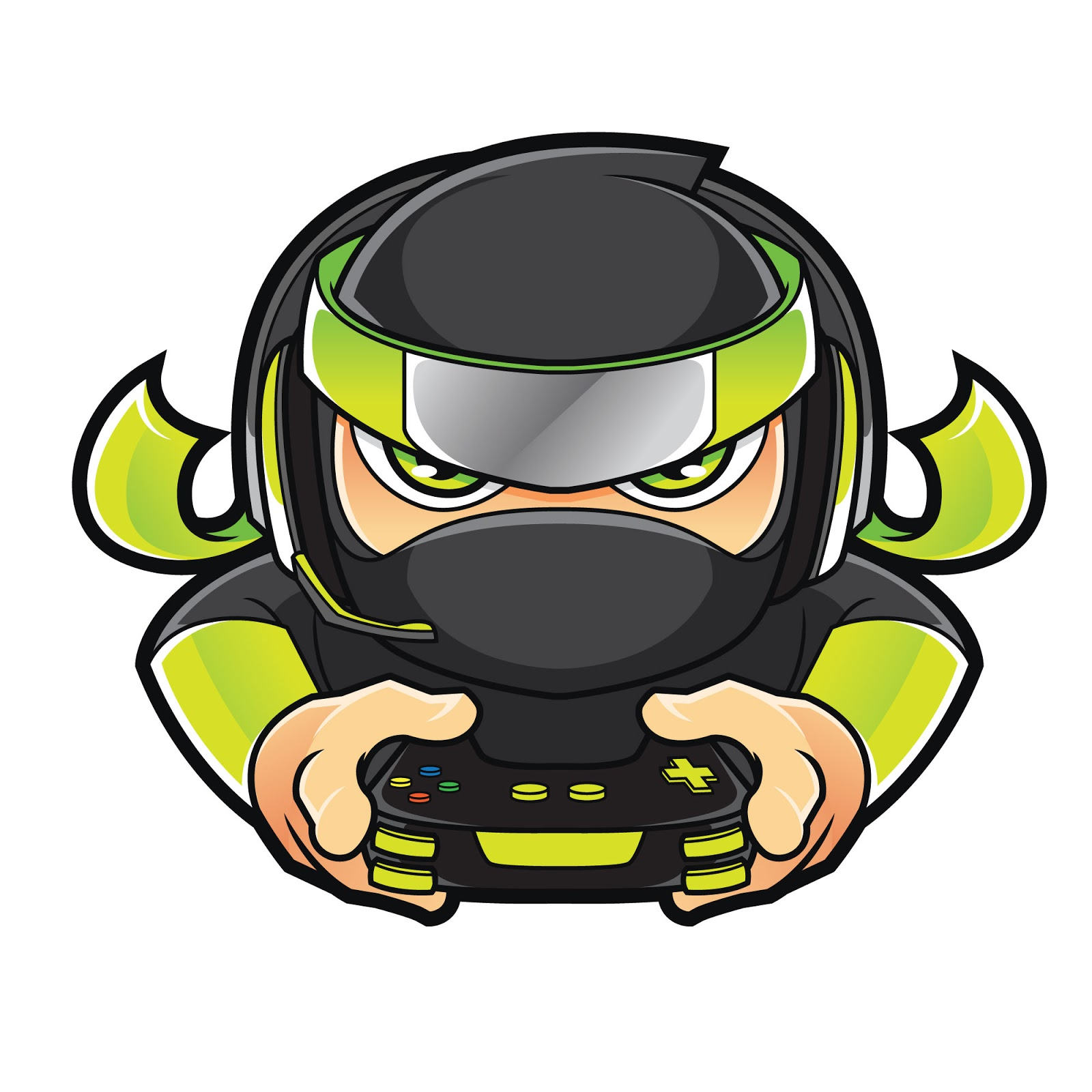 Ninja Gamer Free Download Vector CDR, AI, EPS and PNG Formats